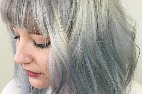 Markante mittellange Frisuren für runde Gesichter