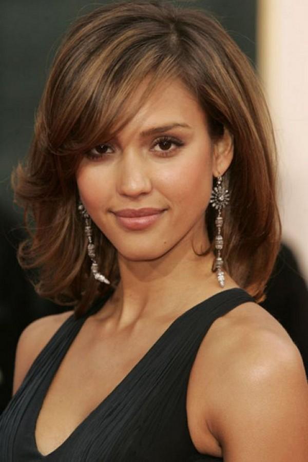 30 mittlere Frisuren für runde Gesichter - Tragen Sie es und Glam It