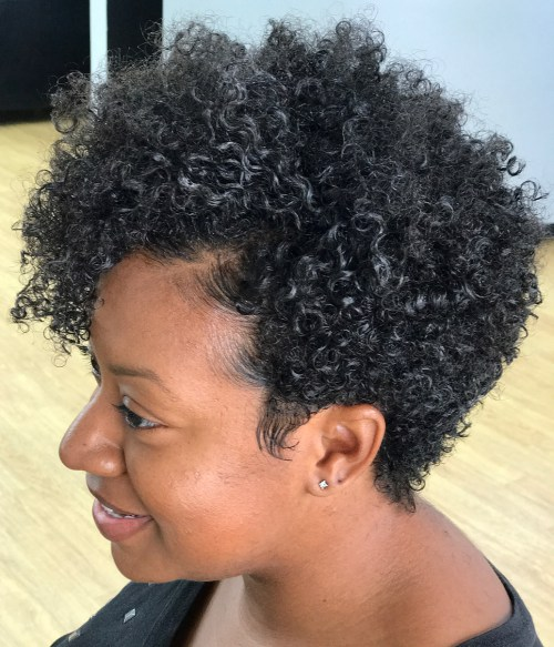 75 am meisten inspirierende natürliche Frisuren für kurze Haare