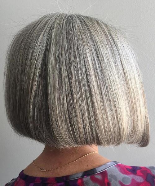 60 wunderschöne graue Frisuren