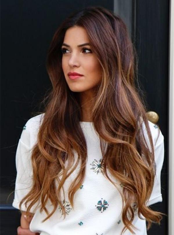 30 Stilvollstes und wertvolles langes braunes Haar