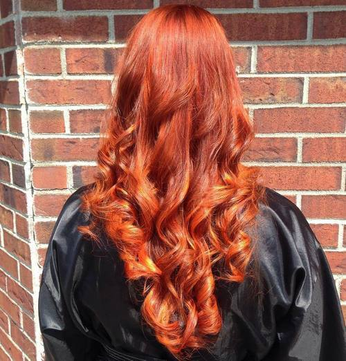 Schatten des roten Haares - 40 rote Haar-Farbideen für 2018