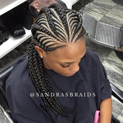 20 total wunderschöne Ghana Zöpfe für eine komplizierte Frisur