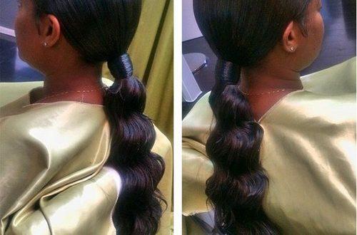 30 elegante schwarze Pferdeschwanz Frisuren