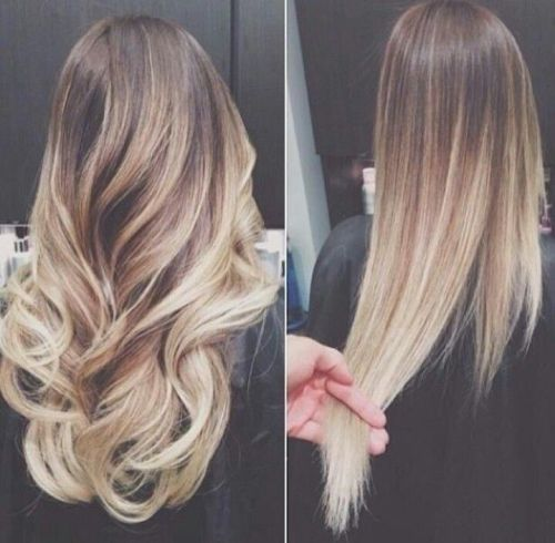 Blondes Ombre-Haar, zum Ihres Blickes mit Strahlen aufzuladen