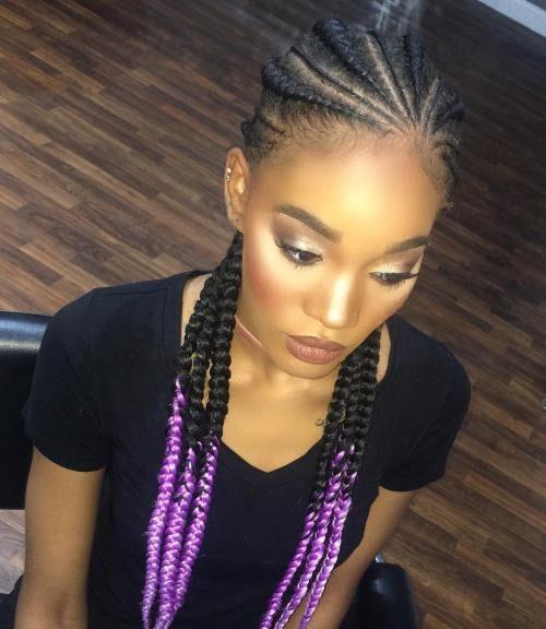 Chic Ghana Zöpfe für Beste Frisur