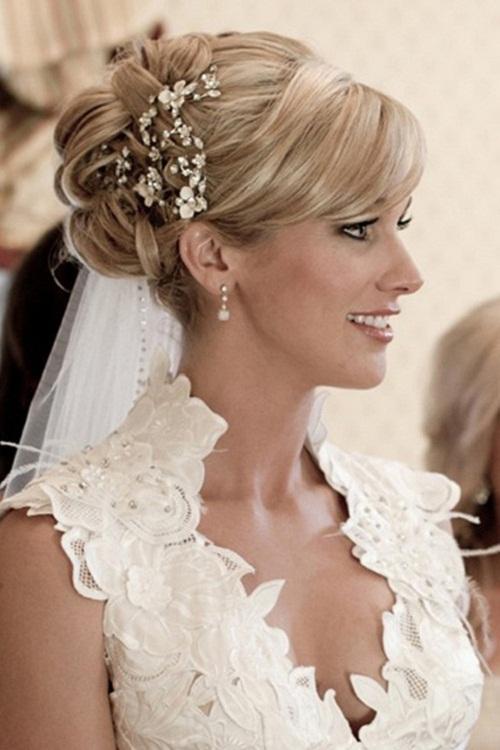 35 elegante Hochzeit Frisuren für mittleres Haar