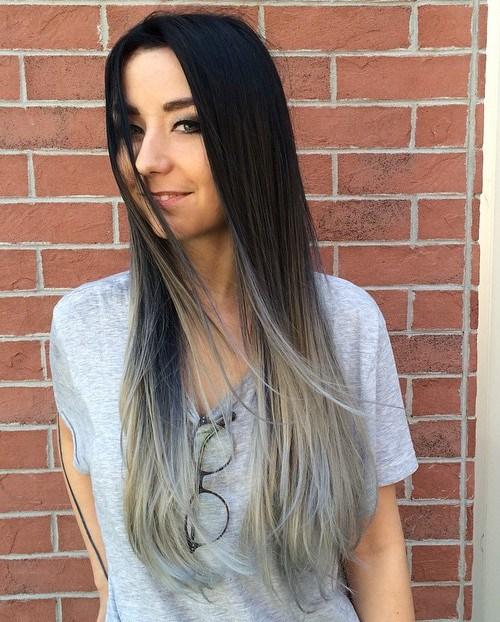 40 lebhafte Ideen für schwarzes Ombre-Haar
