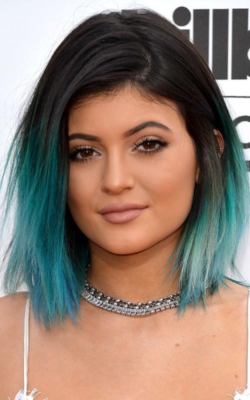 Kylie Jenners grüne Haarfarbe Ideen für Neu