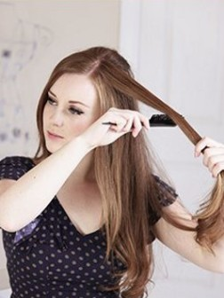 Einfache verdrehte Frisuren
