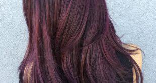50 Schattierungen von Burgunder-Haarfarbe für 2018