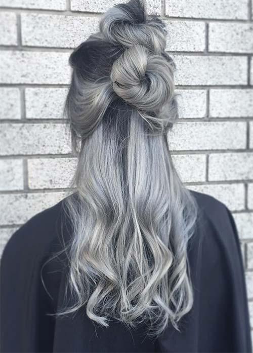 15 wunderschöne und lustige graue Ombre Frisuren