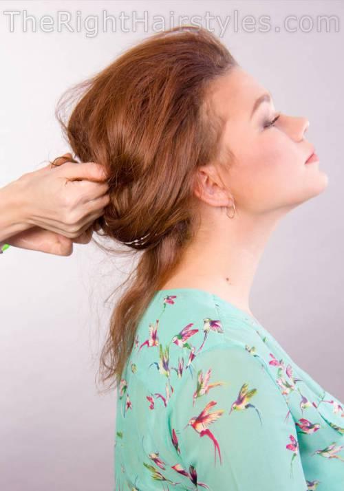 How To: Chaotisch Hochsteckfrisur für ein rundes Gesicht