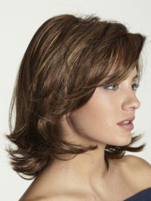 25 überlagert Frisuren mit mittlerer Länge