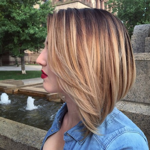 Brown To Blonde Ombre Short Straight Hair The Mercedes Benz