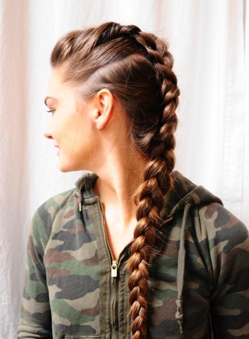 Kreative Mohawk Braid Frisur Ideen für Neu