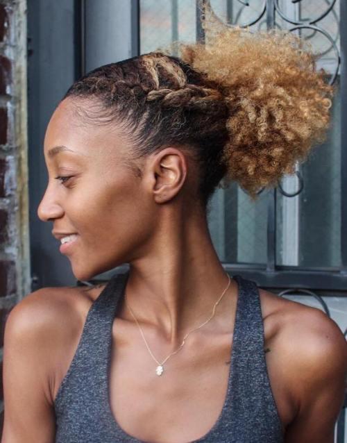 50 Hochsteckfrisuren für Schwarze Frauen von Elegant bis Exzentrisch