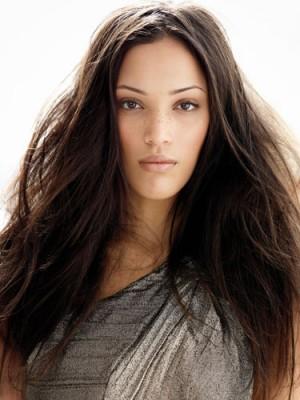 Braune Haarfarbe