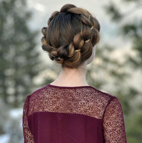 Frisuren mit Vier-Strand-Zöpfen für Beste Frisur