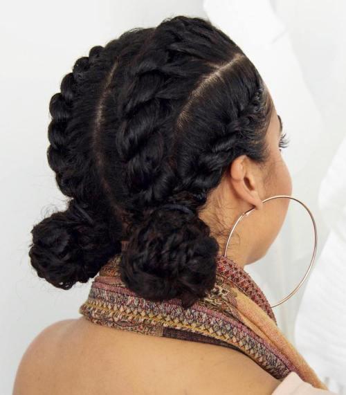 50 einfache und auffällige Schutzfrisuren für natürliches Haar