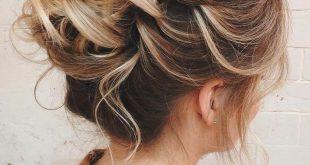 60 Hochsteckfrisuren für dünnes Haar, die maximalen Stilpunkt erreichen