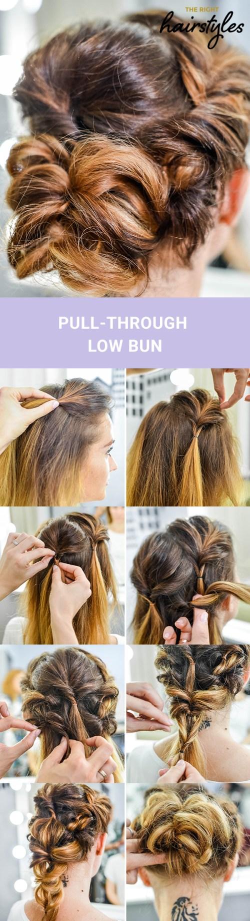 3 schöne Brötchen Frisuren für feines Haar