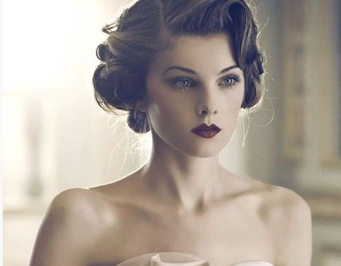 25 klassische und schöne Vintage Hochzeit Frisuren