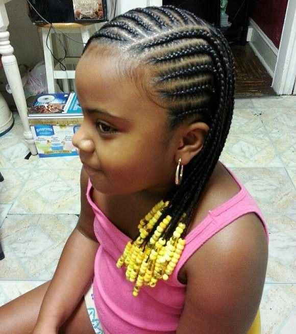 Kid Frisuren mit Perlen - 6 schöne Beispiele