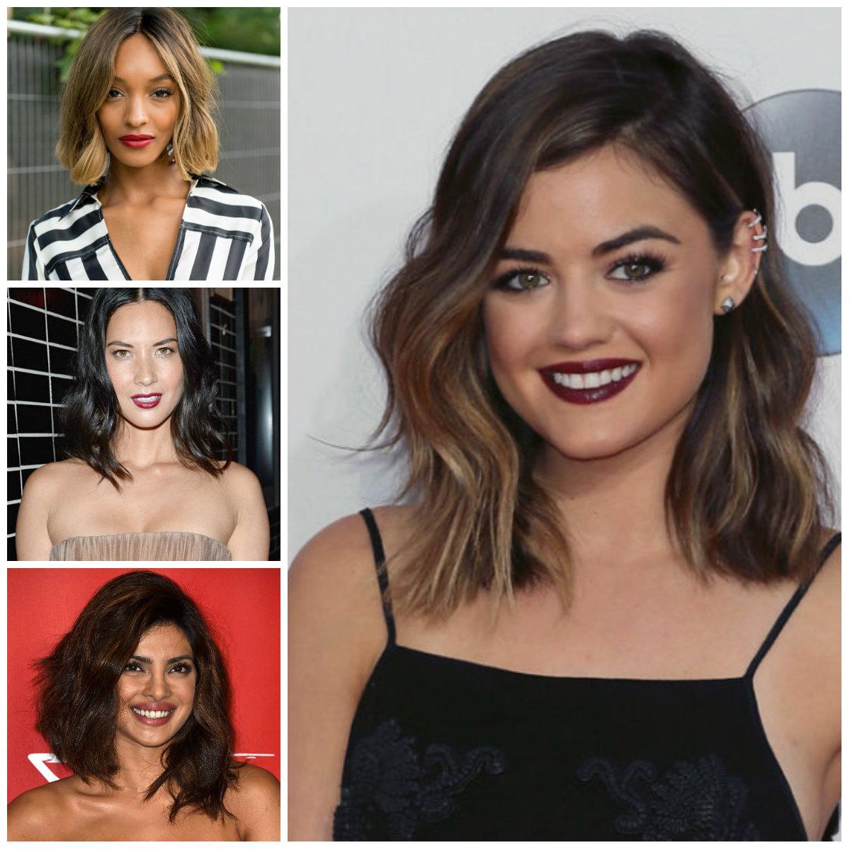Lob Haircuts Brünetten sollten im Jahr Neu stehlen