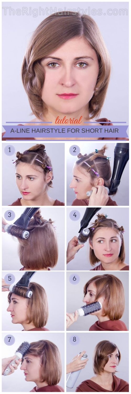 How To: A-Linie Frisur mit Gesicht-Framing Locks für kurze dünne Haare