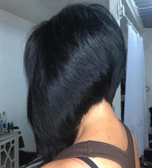 40 Chic abgewinkelte Bob Haarschnitte