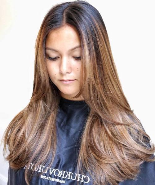 60 erstklassige Braunbraune Haare