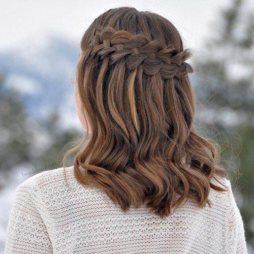 Lockige Frisuren für mittellanges Haar