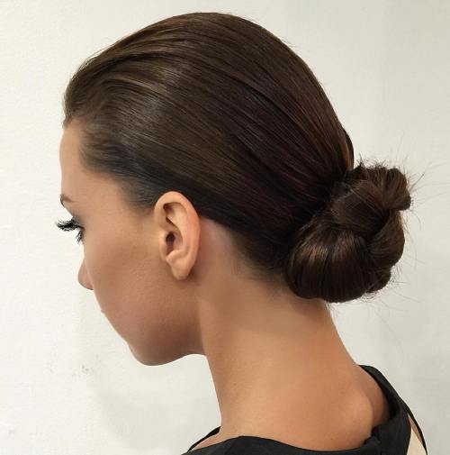 40 Lovely Low Bun Frisuren für Ihre Inspiration