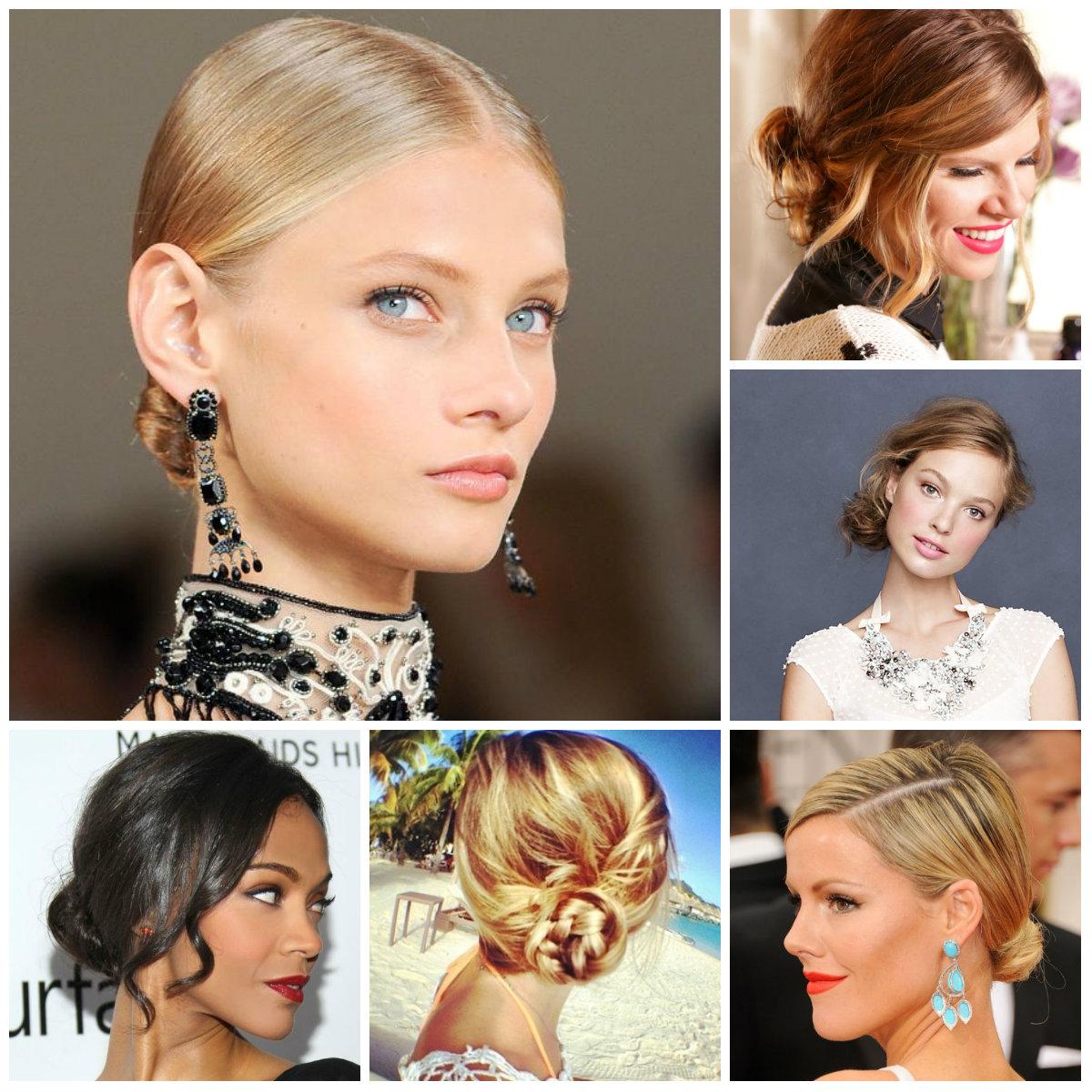 Schöne niedrige Brötchen Frisuren für das Jahr Neu