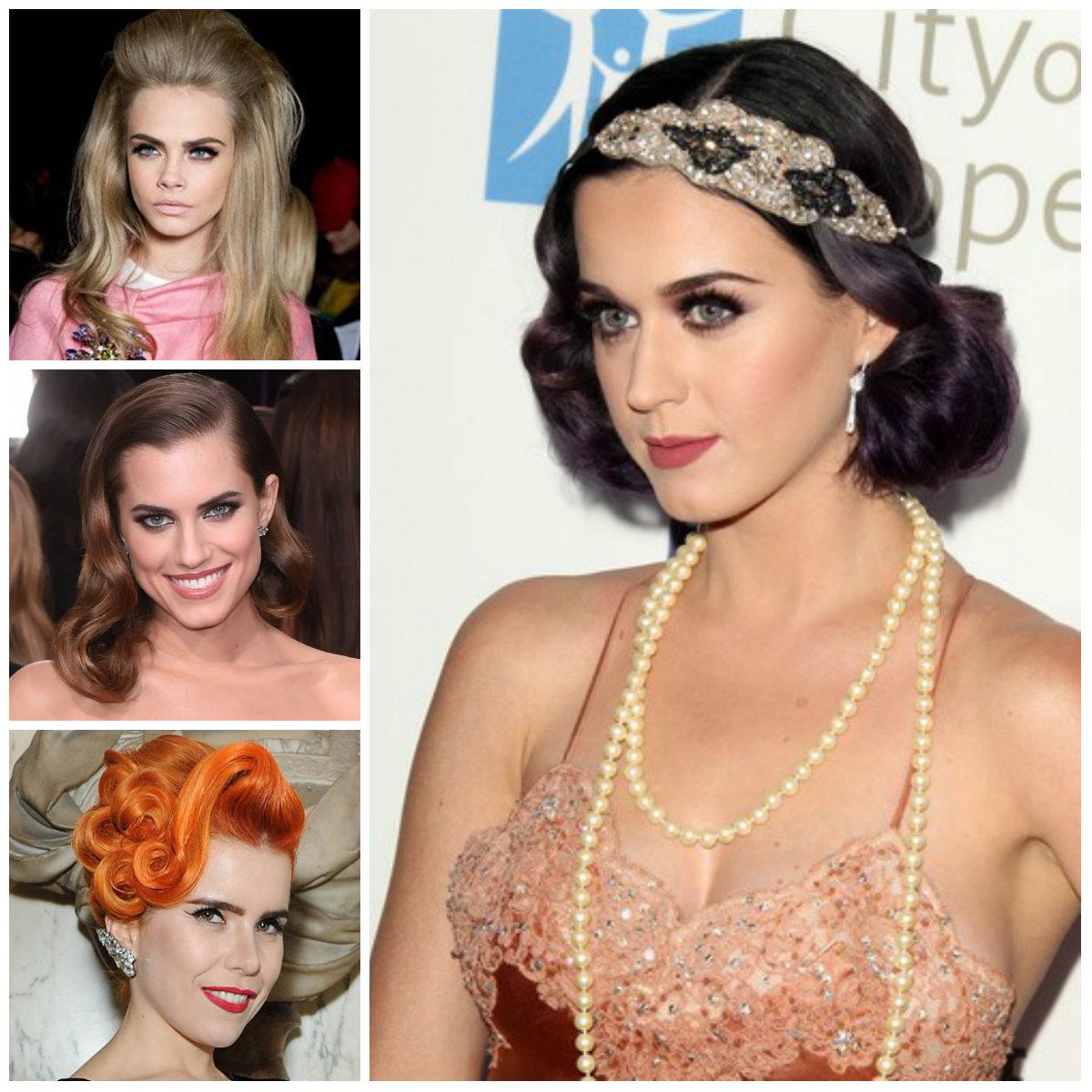 Neu wunderschöne Vintage Frisuren von Hollywood Stars