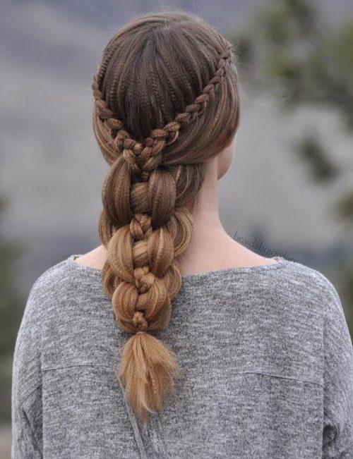 Cute Lace Braids Frisuren für Mädchen