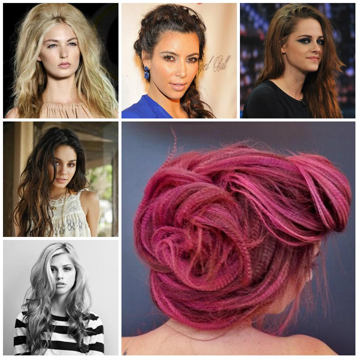 Neu unordentliche Frisur Trends für langes Haar