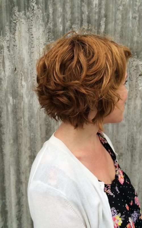Stylish Short Wavy Hairstyle for Beste Frisur
