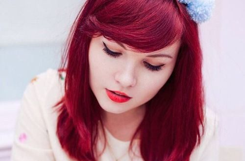 Neu dunkle rote Haarfarbe Trends