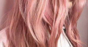 20 Brilliant Rose Gold Haarfarbe Ideen