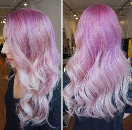 20 üppige rosa Ombre Frisuren