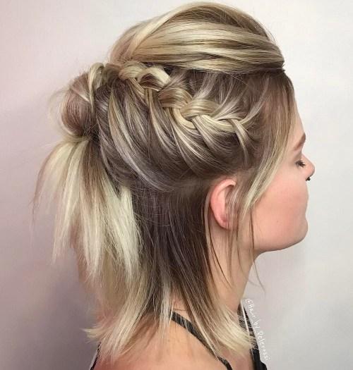 40 wunderschöne geflochtene Frisuren für kurze Haare