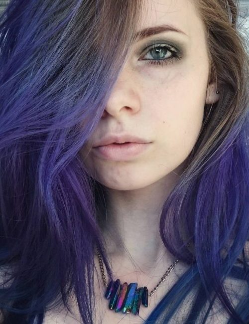 Dark Purple Haarfarbe Ideen