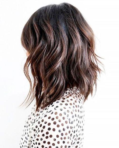 25 heißesten und sexy Lang Bob Haarschnitte