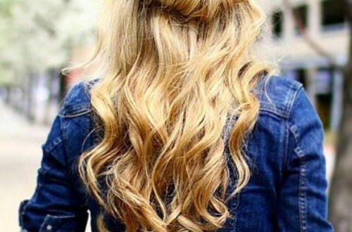 Lange blonde Frisuren