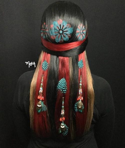 20 futuristische Graffiti-Haar-Ideen