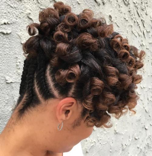 70 besten schwarzen geflochtenen Frisuren, die Köpfe drehen