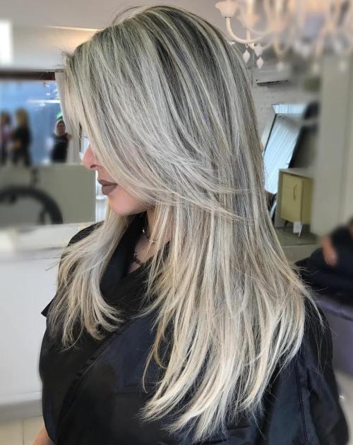 50 süße und mühelose lange Layered Haarschnitte mit Pony