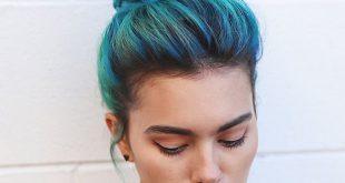 35 einfache und hübsche Top Knot Frisuren